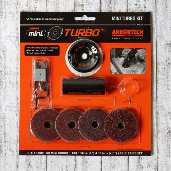 Das Mini Turbo Kit von Arbortech mit viel Zubehör