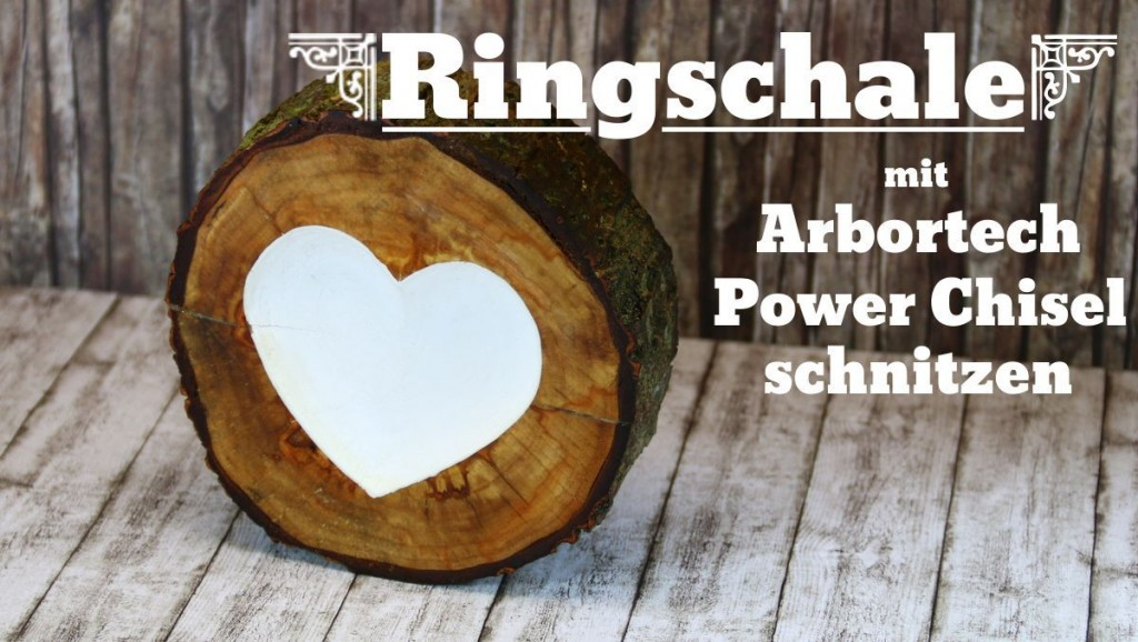 Ringschale mit Arbortech Schnitzmeißel hergestellt
