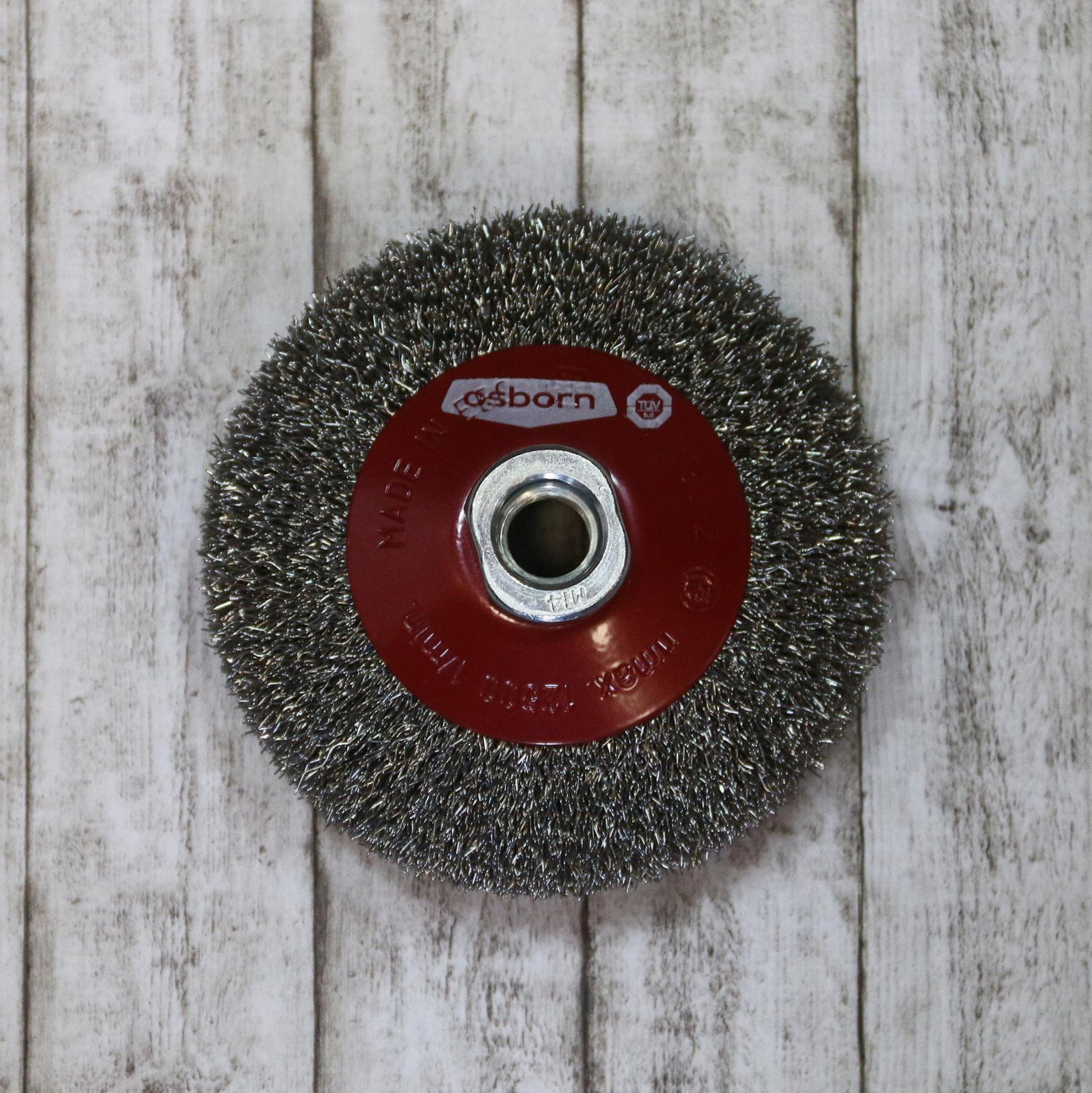 Tellerbürste Rundbürste Zirkular Metall Holz Struktur ausbürsten schleifen