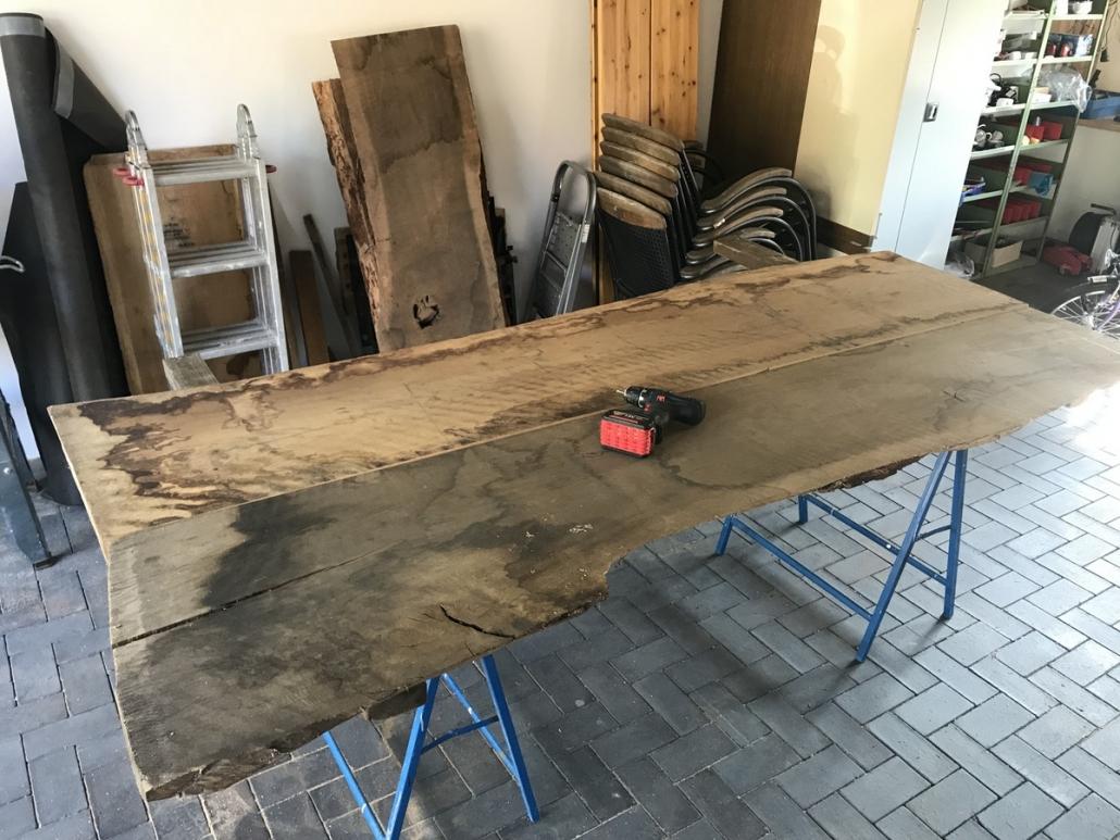 Tischplatte aus Eiche