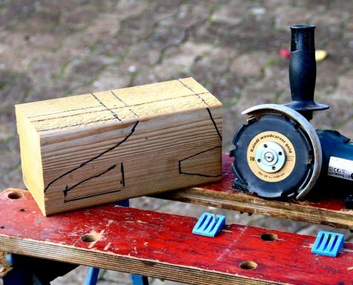 Spielzeug Kettensäge mit Kaindl Woodcarver gefräst