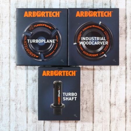 Arbortech Set Turboplane Turboshaft und Woodcarver